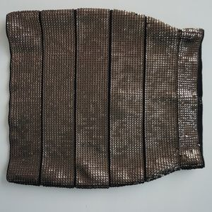 BCBG MAXAZRIA Simon Sequin Skirt S